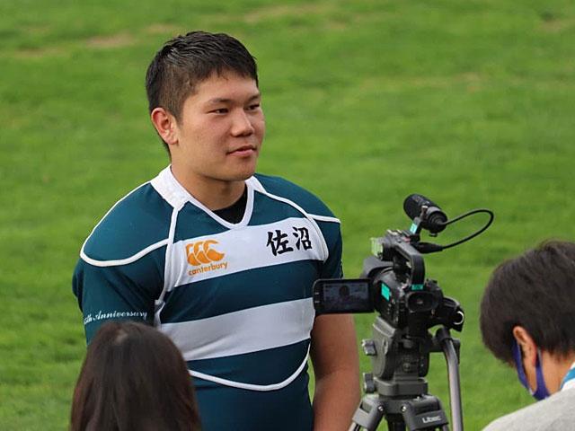 現在の星凌太・佐沼高校ラグビー部キャプテン。ポジションはNo.8